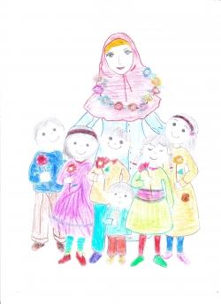 نقاشی روز معلم برای کودکان
