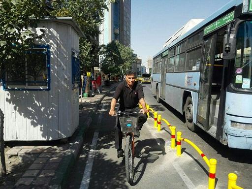 مسیر ویژه دوچرخه در تهران
