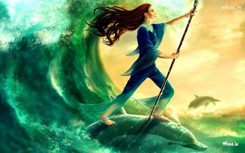 gothic-dreamy-girl-is-into-the-sea-and-standing-on-a-fish
