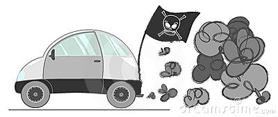 پرچم های آلودگی هوا مخصوص ماشین ها